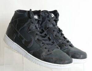 Nike-Dunk-High-Griptape-Pro-SB-Brut-Sneakers-Black-Leather-305050-028-Mens-US-11