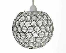 Modern chrome globe ceiling light shade with acrylic crystal chrome acrylic crystal effect jewels ball ceiling light pendant shades rosa new mozeypictures Image collections