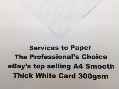 A4 White Smooth Craft Printer Decoupage Card Various Packs Thick /&Thin