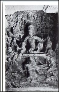 1959-INDIEN-Indien-Elephanta-Relief-Figuren-Figures-AK-Asien-Asia