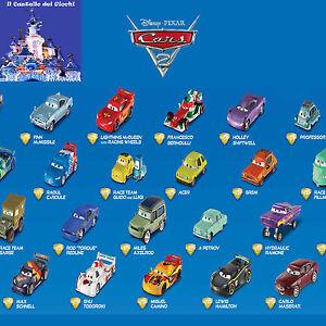 Cars-2-Personaggi-in-Metallo-scala-1-55-da-Collezione-by-Mattel-Disney-Pixar-New
