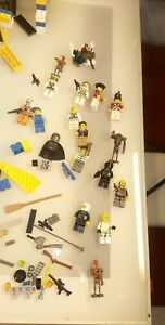 Lego-mixed-lot-with-15-minifigs-some-star-wars-good-shape-with-box