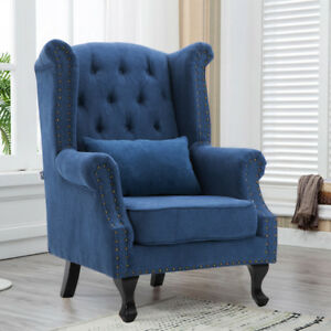 Modern Living Bedroom Armchair Accent Faux Wool Single Sofa Chair