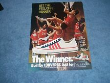 """1975 The Winner Athletic Shoes by Converse Vintage Ad """"Get the Feel of a Winner"""""""