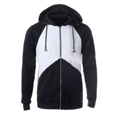 2018 Fashion New Mens American Zip Up Hoody Jacket Sweatshirt Hooded Zipper Top