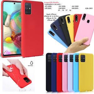 Sottile-Opaco-Silicone-Morbido-Cover-Retro-Per-Samsung-A20e-A50-A51-A71-A10-A11