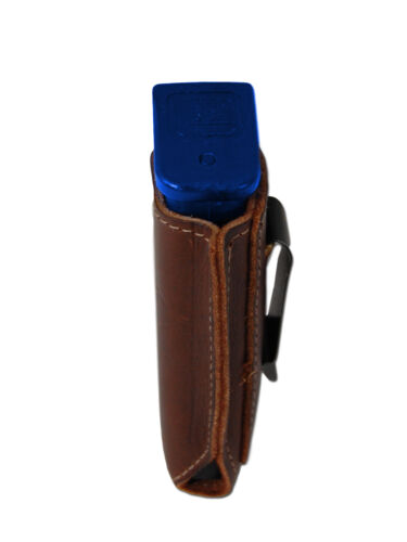 NEW Barsony Brown Leather Single Magazine Pouch Norinco Kimber Full Size 9mm 40