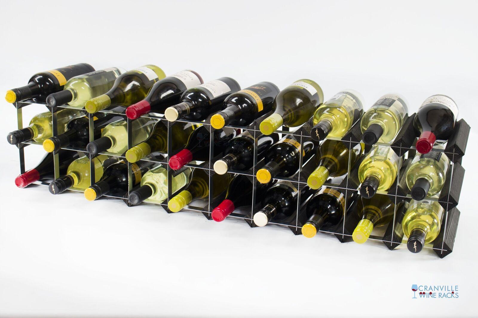 Cranville Wein Regal Aufbewahrung 20 30 Flasche Schwarz Holz und Metall | Neue Produkte im Jahr 2019