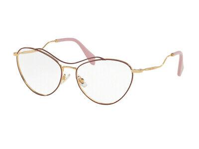 Di Larghe Vedute Occhiali Da Vista Montatura Miu Miu Autentici Mu 53pv Bordeaux Ua51o1