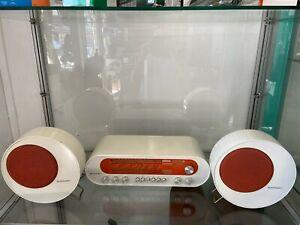 Vintage-Blaupunkt-POP-70-70er-Jahre-Designer-Radio-Anlage-in-Weiss-amp-Orange-TOP