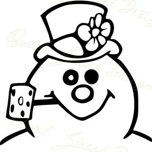 Christmas Vinyl Decals.Details About Frosty The Snowman Face Winter Wonderland Christmas Vinyl Decal Free Ship 901