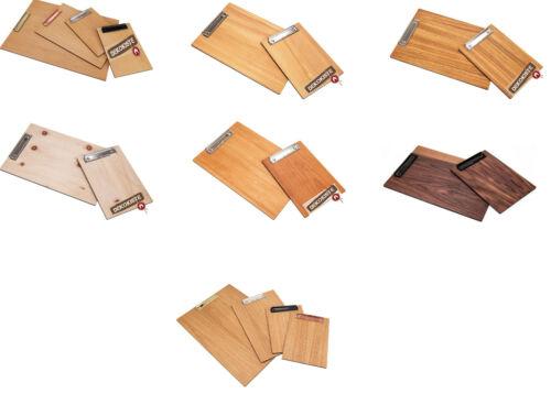 Klemmbrett DIN A5 Schreibplatte Schreibbrett Klemmmappe Holz Clipboard Board