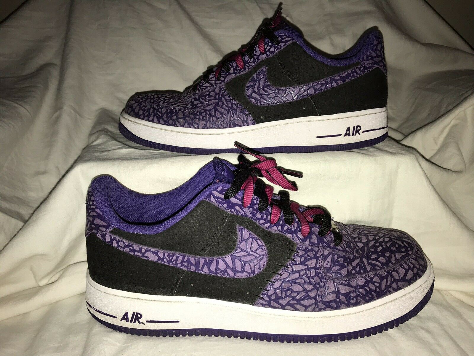 Nike Air Force 1 Low Top Size 11.5 Purple Mens shoes