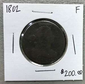1802-U-S-DRAPED-BUST-LARGE-CENT-FINE-CONDITION-2-95-MAX-SHIPPING-C937