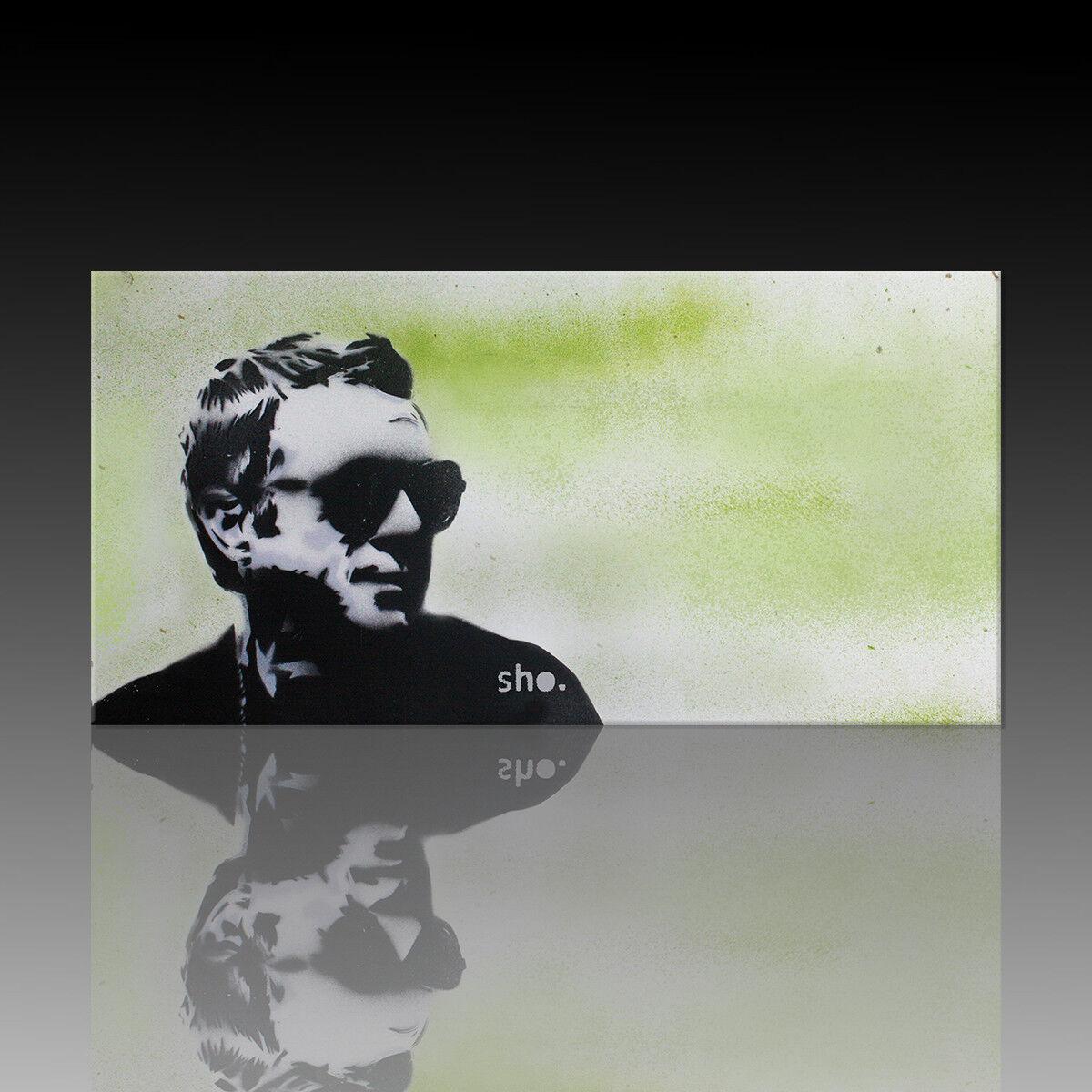Kunstdruck auf Leinwand-Steve McQueen 3-handmade by SHO (div. Größen) Street Art