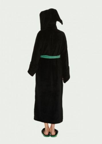 Official Harry Potter Slytherine Women/'s Bathrobe Dressing Gown with Hood