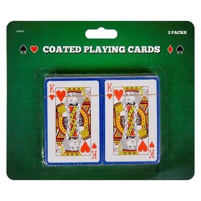 2 Confezioni Rivestito Carte Da Gioco-mostra Il Titolo Originale