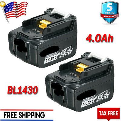 For Makita 14.4V 4.0AH BL1430 BL1440 BL1450 BL1415 Li-ion Battery Drill Tools