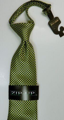 Fermeture éclair cravate cravate 100/% SOIE bleu vert design