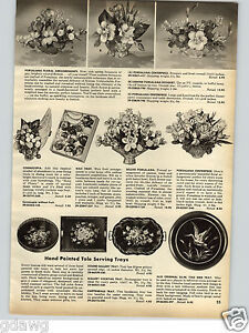 1958-PAPER-AD-Hand-Painted-Tole-Serving-Tray-Alix-23-034-Bird-Trays