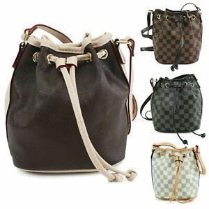 Ladies-Women-039-s-Designer-Checkered-Bag-Messenger-Shoulder-Handbag-UK