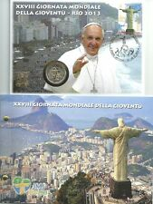 Vatikan 2013 amtl. Numisbrief mit 2 € Euro GM Weltjugendtag Rio de Janeiro