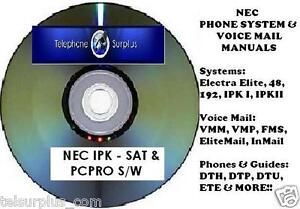 nec electra elite ipk cd manuals sat pcpro ipkii software rh ebay com NEC Phones Instruction Manual NEC DTH 16D Phone Manual