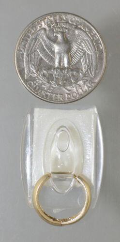 14K Solide Or Blanc 15.5 x 5 mm large Huggies Créoles Boucle d/'oreille Italie 2.2 g Beauté RARE