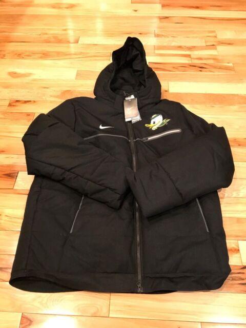 Nike Oregon Ducks Sideline Hooded Coat Jacket Black - Men XL for ... 9b4d5d20e