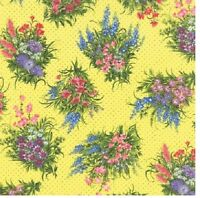 Moda Fabric Wildflowers Vii Bouquets On Sunshine Yards