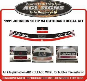 1991-JOHNSON-90-HP-V4-Outboard-Decal-kit-reproductions-also-115-hp