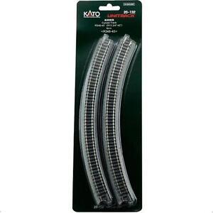 Kato-20-132-Rail-Courbe-Curve-Track-R348mm-45-4pcs-N