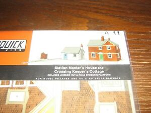 Details about SUPERQUICK MODEL KIT - A11 - STATION MANAGER,S HOUSE &  CROSSING KEEPERS COTTAGE