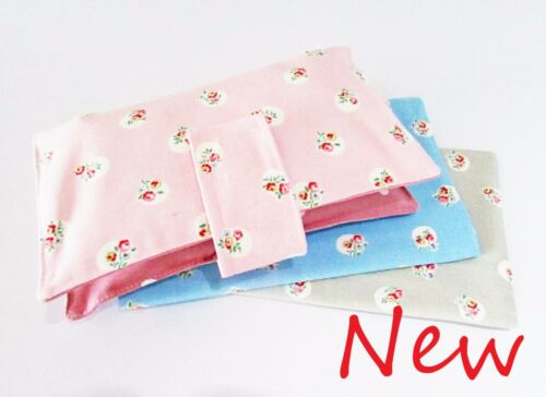 Cath Kidston Floral Spot Rose Handmade nappy wipe changing pouch holder wallet