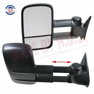 Towing Manual Side View Mirrors Left Amp Right Pair For 88