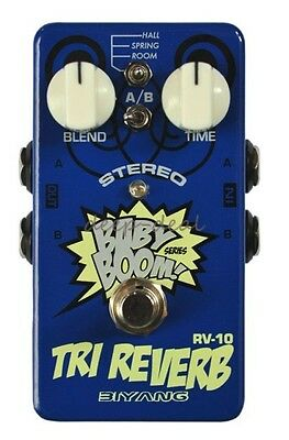 "BIYANG'S ""BABY BOOM"" RV-10 TRI-REVERB Stereo Reverb Guitar Effects Pedal"