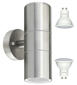Modern-IP65-Stainless-Steel-LED-Outdoor-Garden-Up-amp-Down-Wall-Light-Lamp-8w-LED