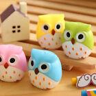 1PC Mini Funny Cute Lovely Owl Pattern Pencil Sharpener School Kids Favorite