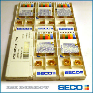 CCMT 32.51 F1 TP2500 SECO  *** 10 INSERTS *** FACTORY PACK ***