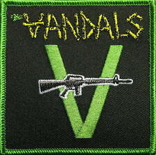 "VANDALS / THE VANDALS AUFBÜGLER / EMBROIDERY PATCH # 1 ""RIFLE LOGO"" - 8x8cm"