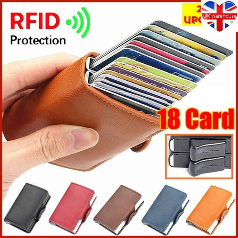 18 Card Slot RFID Double Alu Box Automatically Pop Up Credit Card Holder Wallet