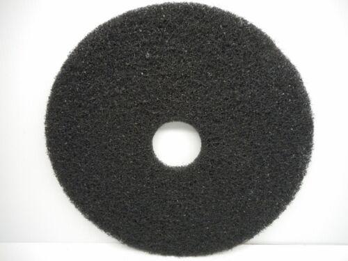 "One Essex Silver Line 17/"" Black Floor Stripping Pad Disc"