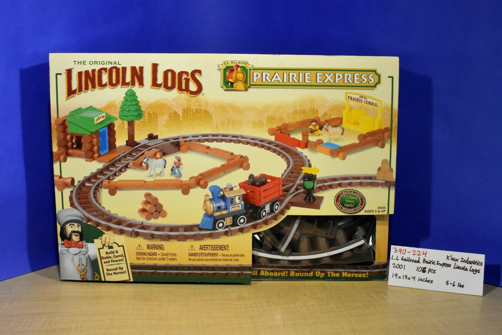 K 'nex 2001 el Original Lincoln Logs Prairie Express Lincoln Logs (390-224)