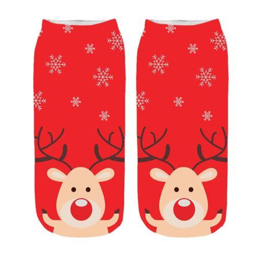 Women/'s 3D Cartoon Funny Christmas Crazy Amazing Novelty Print Ankle Socks CA
