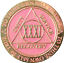 31 Year AA Medallion Pink Gold Plated Alcoholics Anonymous Sobriety Chip Coin