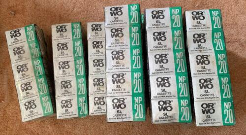 Orwo np20 sl cassette b/&w negativo-película RDA-ware rara vez! 10 unid braguitas