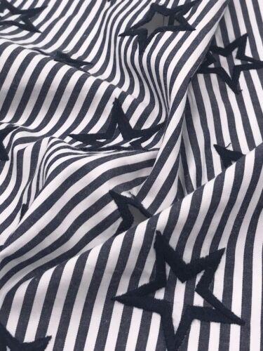 Tela de toalla tela decorativa estrellas bordados ancho 145 cm