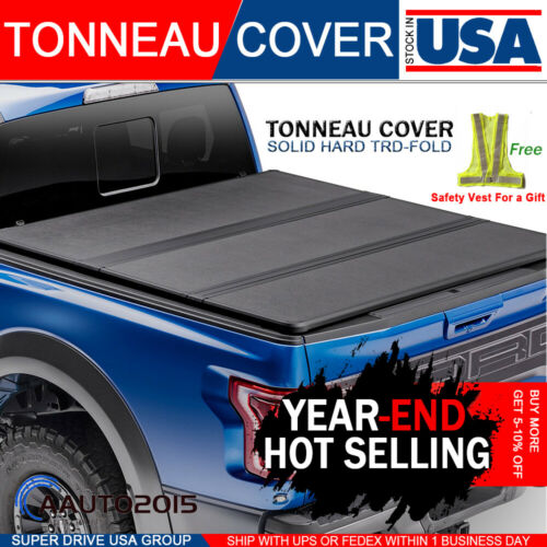 Fits-2004-2020-Ford-F-150-5-5ft-Bed-Lock-Solid-Hard-Tri-Fold-Tonneau-Cover-Bed