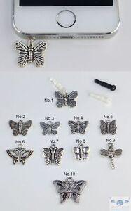 Phone-DS-Ipod-Ipad-Anti-Dust-Plug-Dangle-Butterfly-Charm-Various-Earphone-Jack