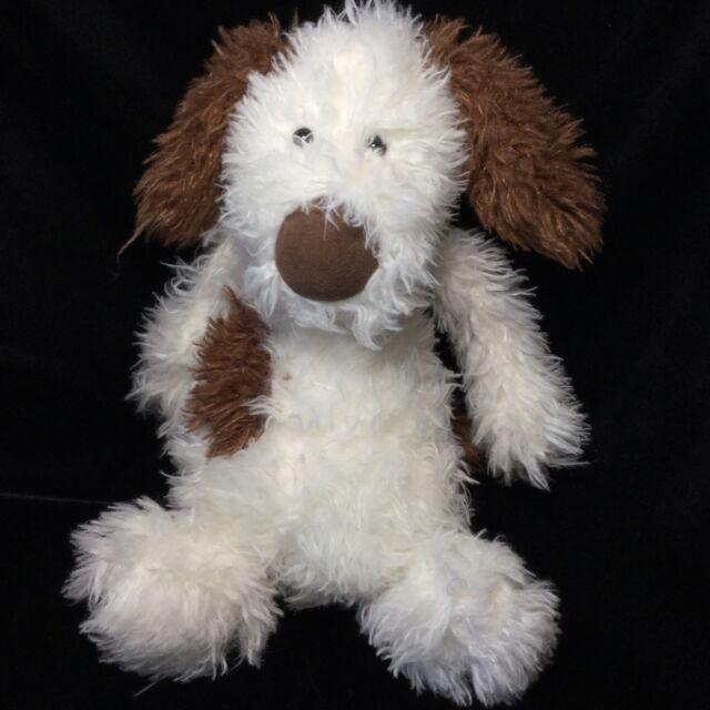 Jellycat Poppy Puppy Brown Off White Dog Plush Soft Toy 12 Stuffed